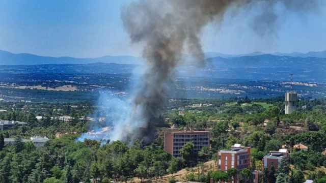 Incendio en la zona de Ciudad Universitaria.