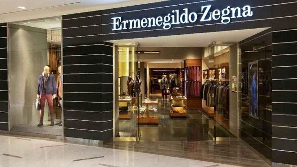Una tienda de Ermenegildo Zegna.