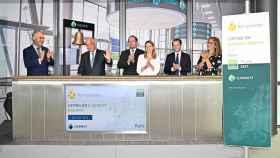El toque de campana de Kompuestos en el mercado Euronext Growth de París.