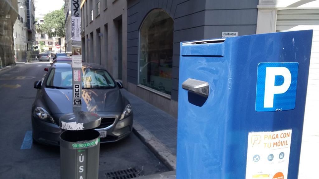 Zona SARE en Málaga capital.