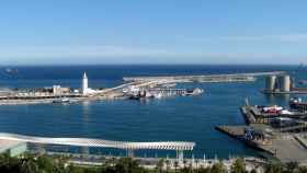Vista del puerto de Málaga.