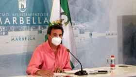 Félix Romero en la rueda de prensa de este lunes.