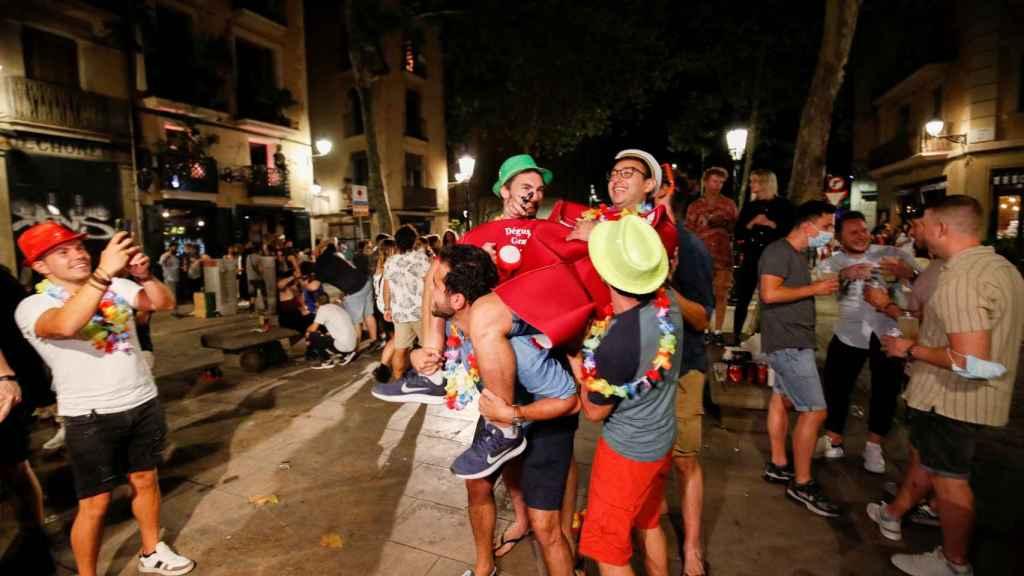 Las calles de Barcelona este fin de semana, en el barrio de Born.