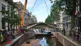 Primer puente de acero impreso en 3D, Ámsterdam