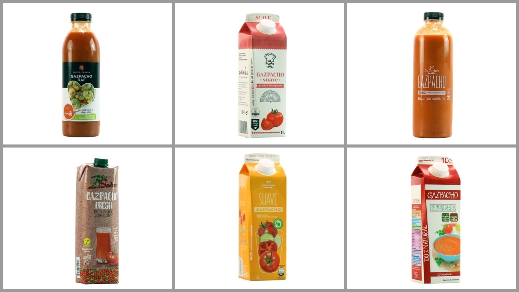 Gazpachos de los supermercados