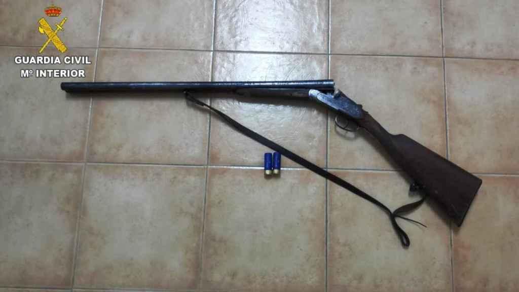 Arma utilizada por la persona invetigada