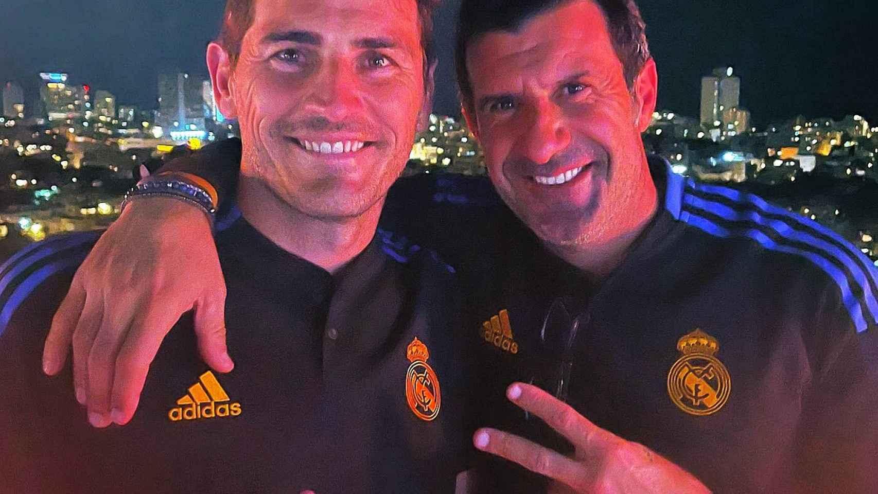 Iker Casillas y Luis Figo