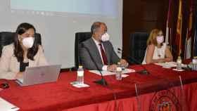 Intervención del rector Julián Garde en el Claustro de la Universidad de Castilla-La Mancha