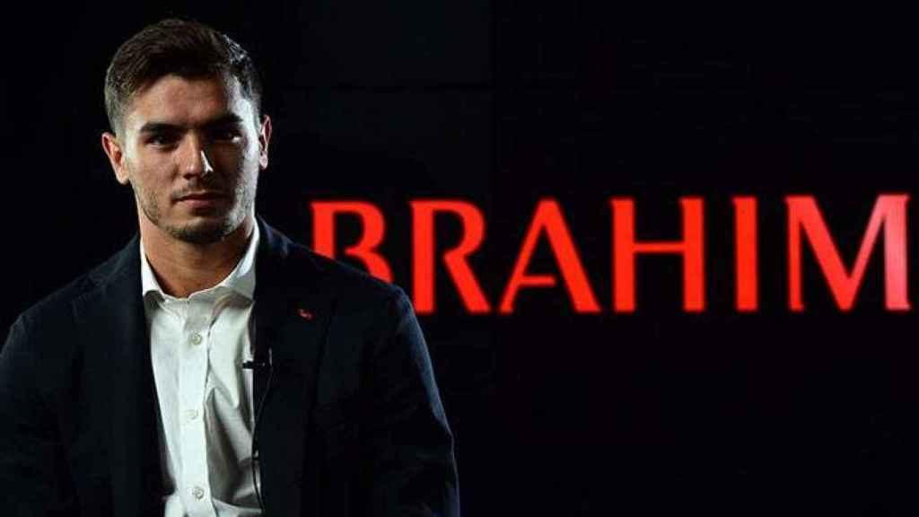 Brahim Díaz, en su presentación con el AC Milan