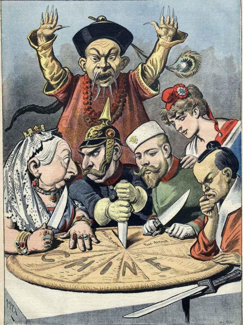 Caricatura occidental de 1898.