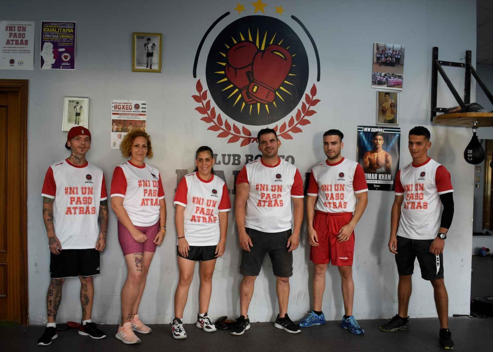 Miembros de la Asociación Club Boxeo Málaga.