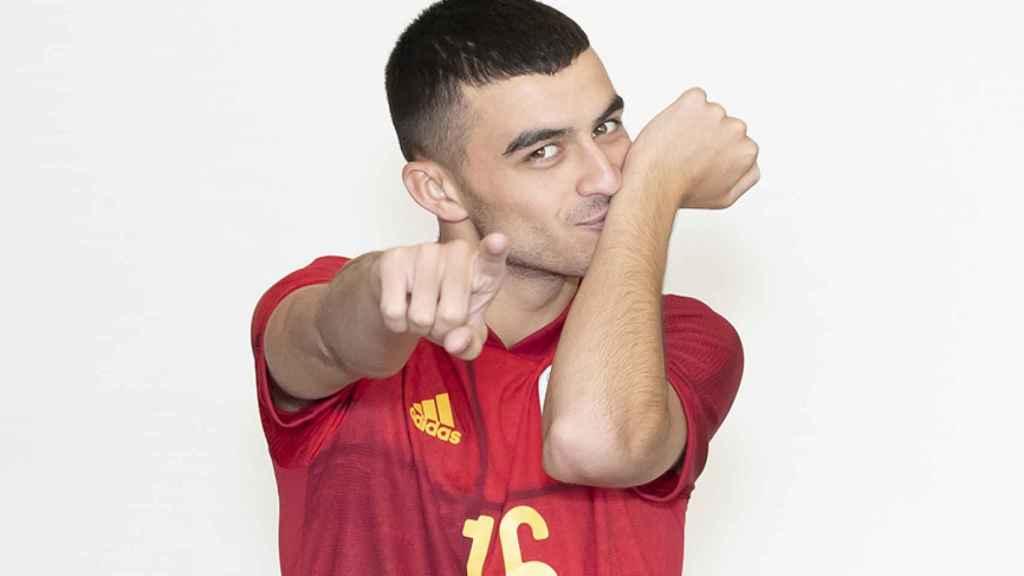 Pedri González, con la camiseta de la selección española de fútbol