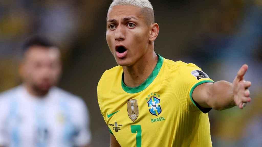 Richarlison, con la selección de Brasil