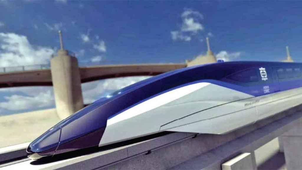 Prototipo de tren de levitación magnética chino