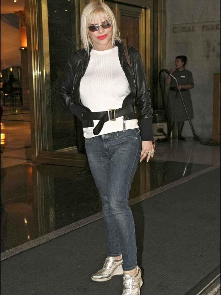 La actriz durante un viaje en el aeropuerto de Buenos Aires.