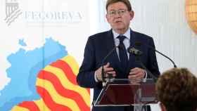 Ximo Puig en el congreso de regantes FECOREVA.