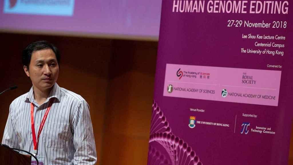 He Jiankui, el científico chino condenado a tres años de cárcel por experimentar la edición genética en bebés. EFE/Alex Hofford