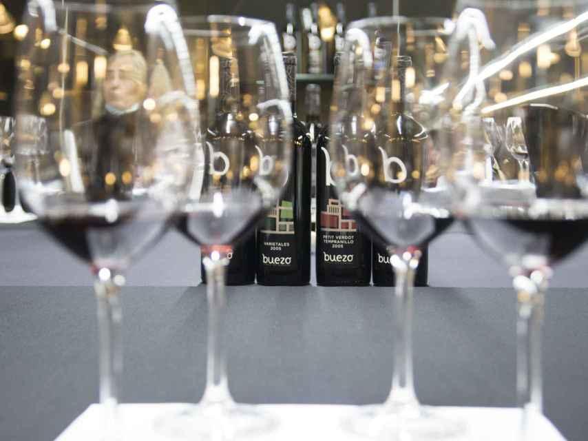 Cata de vinos en Bodegas Buezo.