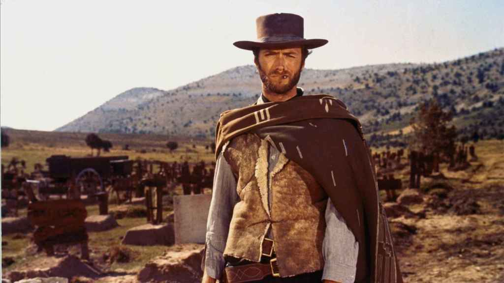 Clint Eastwood en Sad Hill, escena final de El bueno, el feo y el malo.