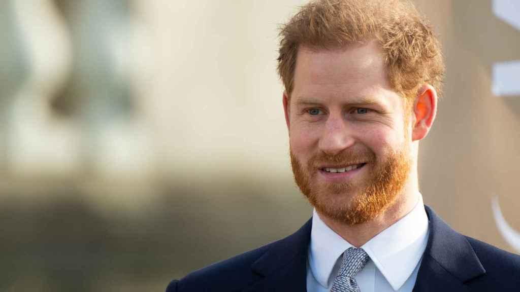 El príncipe Harry durante un acto en Londres.