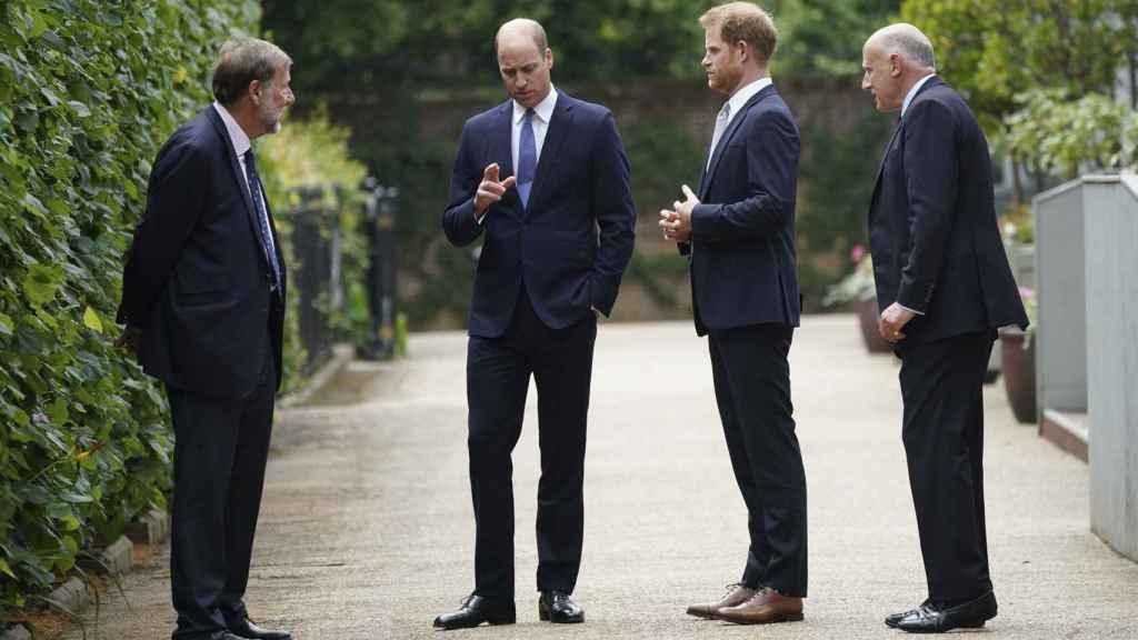 El príncipe Harry en el último encuentro con su familia.