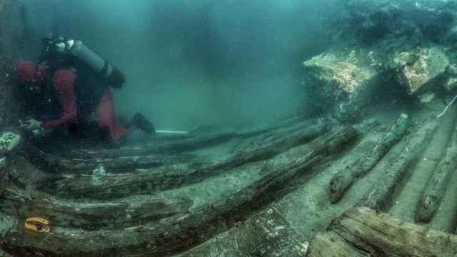 Parte del navio encontrado en Abukir