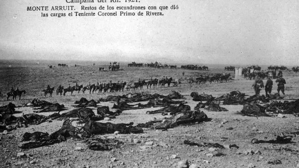 Españoles muertos en Monte Arruit.