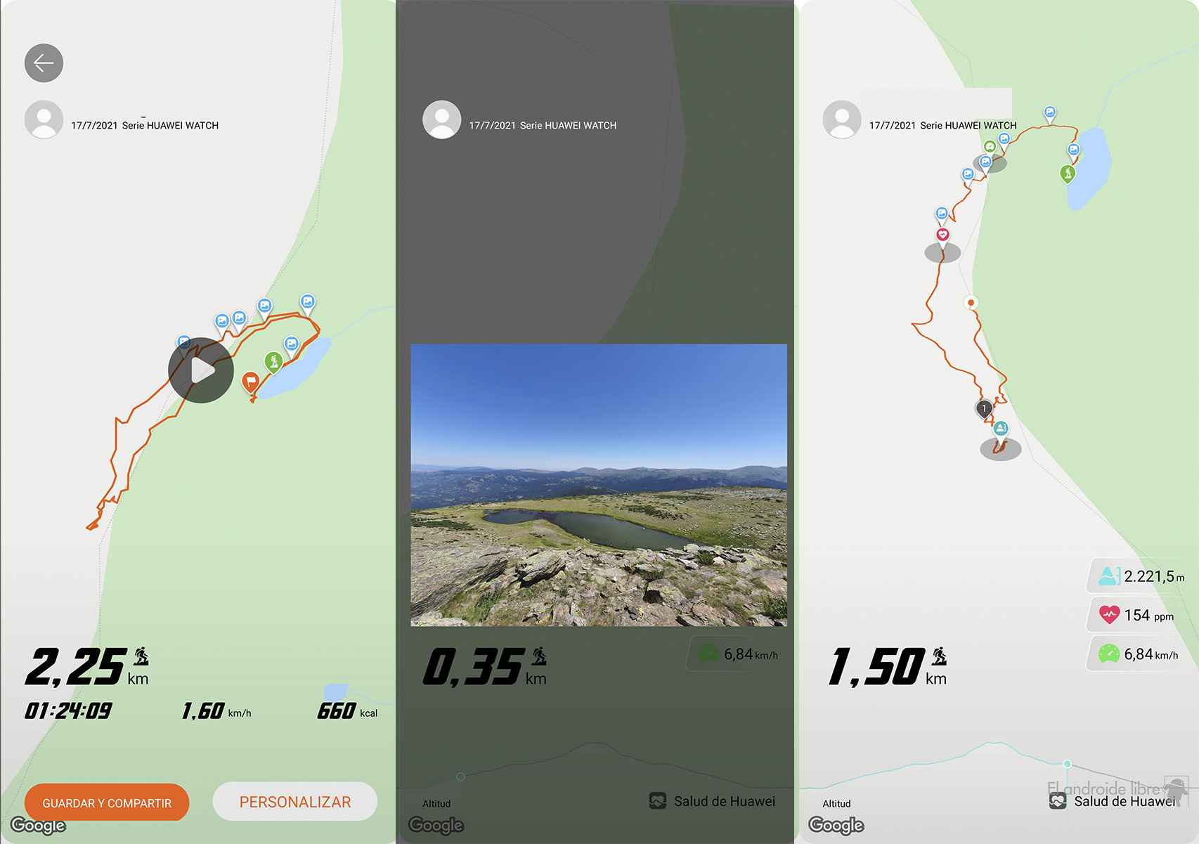 Seguimiento dinámico de la app Salud de Huawei