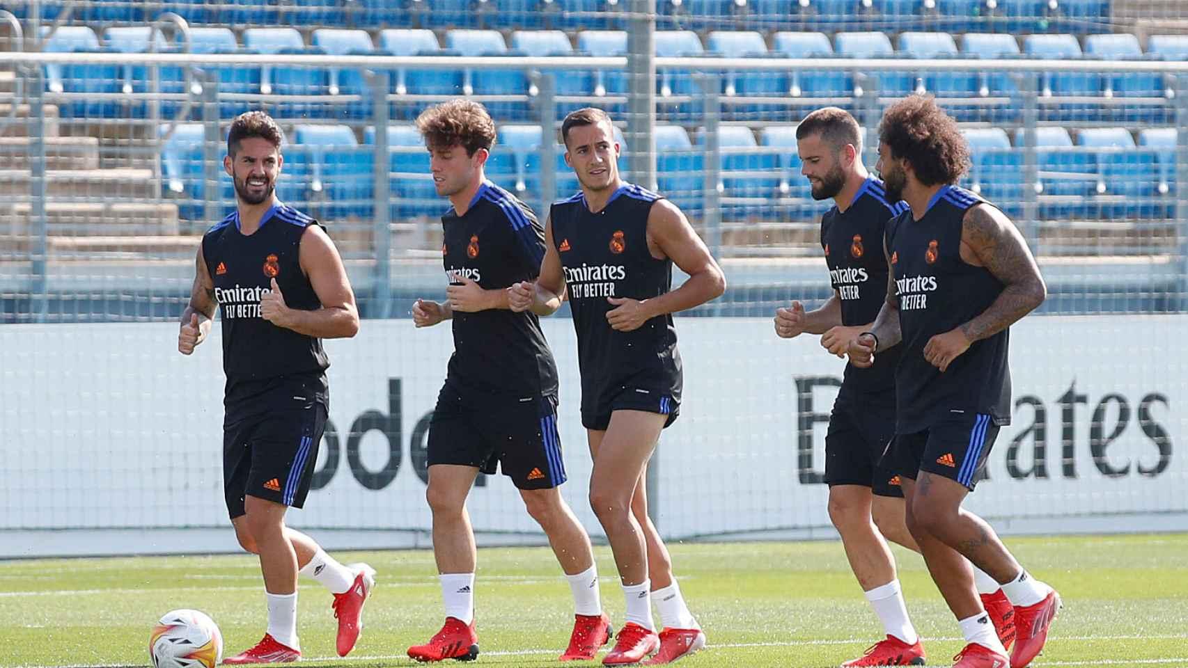 Isco, Odriozola, Lucas Vázquez, Nacho y Marcelo, haciendo carrera continua
