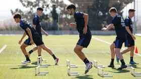 Los jugadores del filial, en el primer entrenamiento de la pretemporada del Real Madrid Castilla