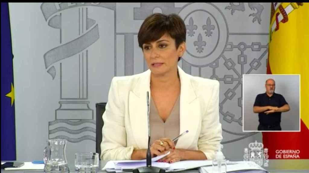 La ministra portavoz, Isabel Rodríguez.