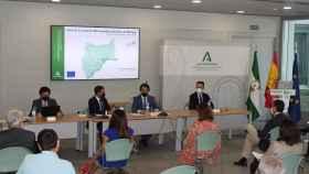 Reunión de la comisión encargada de aprobar el Plan de Transporte Metropolitano del Área de Málaga.