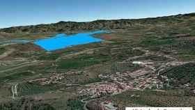 Infografía de la ocupación de uno de los parques fotovoltaicos proyectado en la zona de Álora.