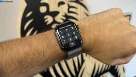 Apple Watch atado a una muñeca.