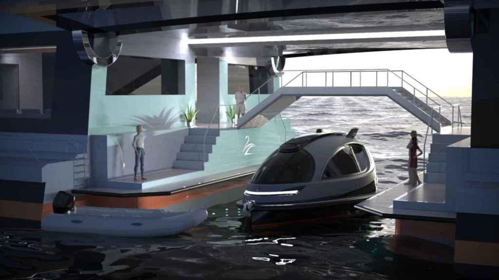 Así es el puerto privado por dentro.