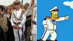 Kiko Rivera y Homer Simpson en un fotomontaje.