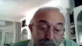 Fernández Testa durante su polémica intervención telemática en el pleno de Getafe.