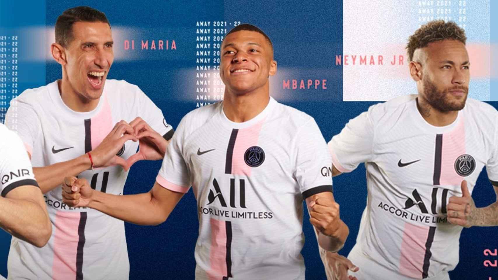 Mbappé, en la presentación de la nueva camiseta del PSG