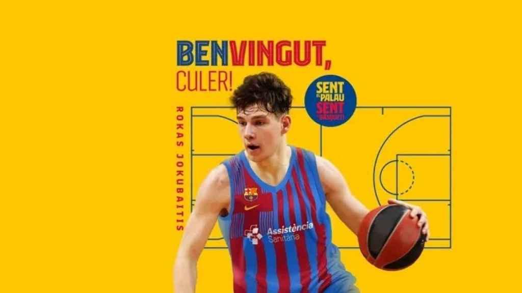Rokas Jokubaitis, jugador del FC Barcelona de baloncesto