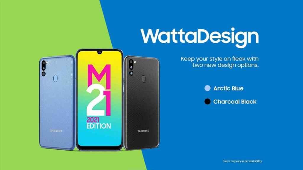 Galaxy M21 2021 Edition colores