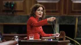 María Jesús Montero en el Congreso de los Diputados.