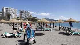 Imagen de archivo de una playa de Málaga.