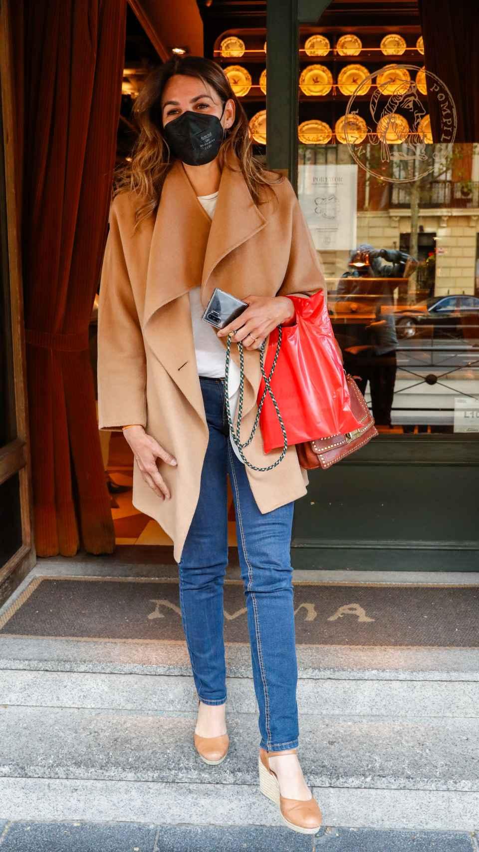 Fabiola Martínez en una imagen reciente por las calles de Madrid.