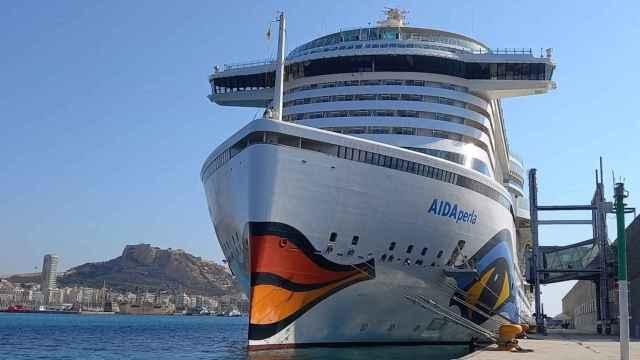 Crucero Aida, que recaló el pasado lunes en el Puerto de Alicante.