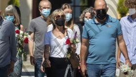 La cantante Ana Torroja, destrozada en el último adiós a su padre el pasado 14 de julio.