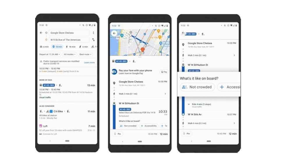 Google Maps aglomeraciones tren