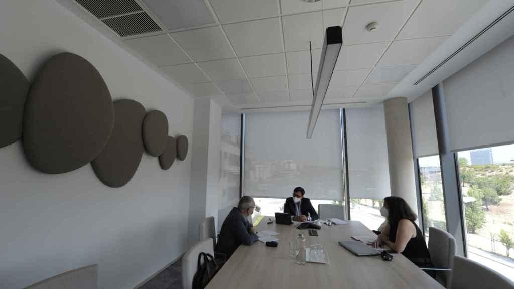 Interior de la sede de Lantania donde se llevó a cabo la entrevista.