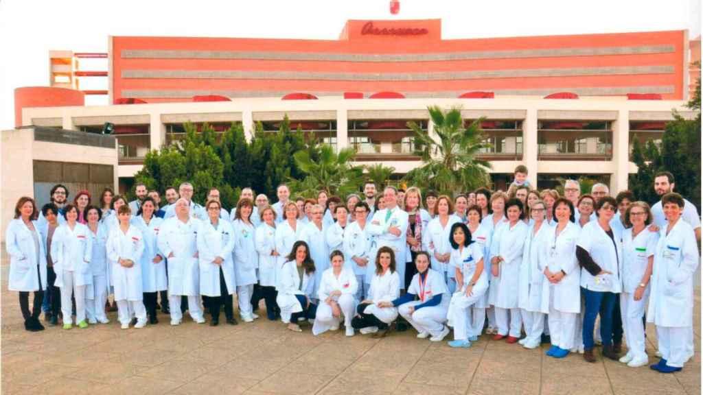 Moraleda y su servicio del Hospital Virgen de la Arrixaca.