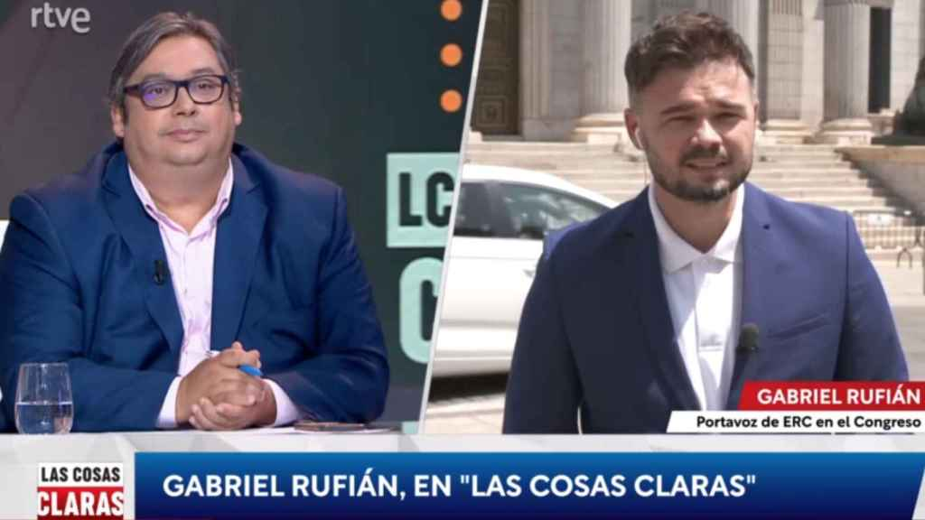 """Gabriel Rufián se niega a contestar a un tertuliano: """"Tengo bastante con mis cuñados en Navidad"""""""