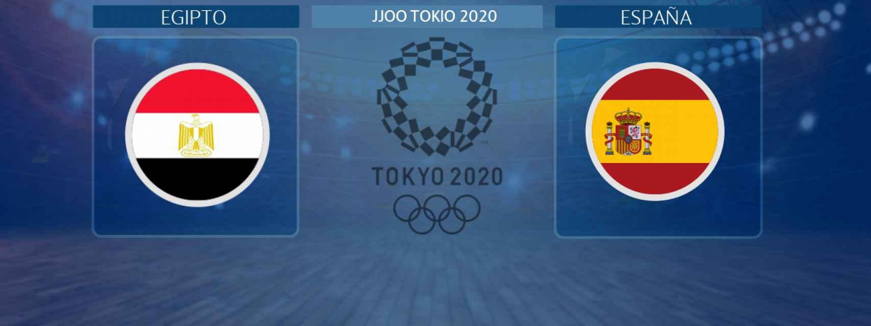 Egipto - España, partido de los JJOO de Tokio 2020
